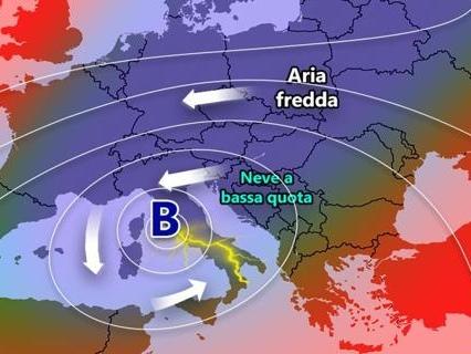 Sull'Italia arriva buran, il vento che porta il termometro a -12  