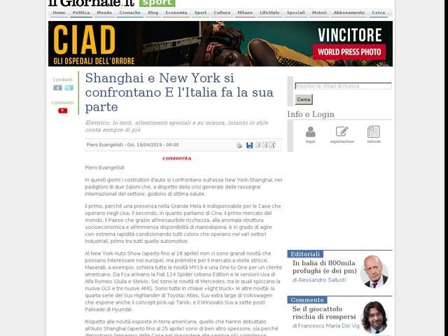 Shanghai e New York si confrontano E l'Italia fa la sua parte