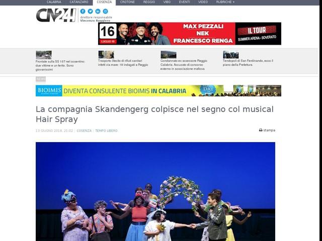 La compagnia Skandengerg colpisce nel segno col musical Hair Spray