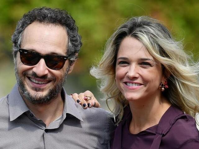Claudio Santamaria e Francesca Barra, le tappe del loro amore dal primo incontro fino al bacio sul palco di Sanremo 2021