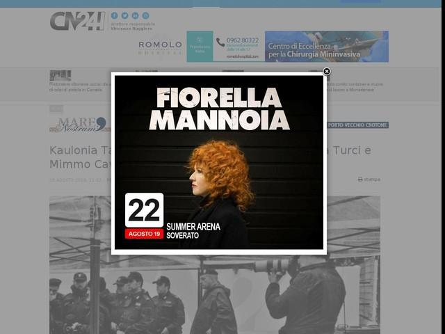 Kaulonia Tarantella Festival, gran finale con Paola Turci e Mimmo Cavallaro