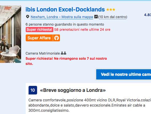 WE a Londra per lo shopping natalizio: volo a/r + 3 notti in ottimo Ibis Hotel 3* da soli 132€!