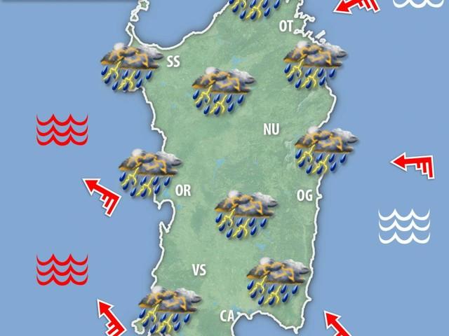 METEO SARDEGNA: ondata di maltempo nelle prossime ore, i dettagli