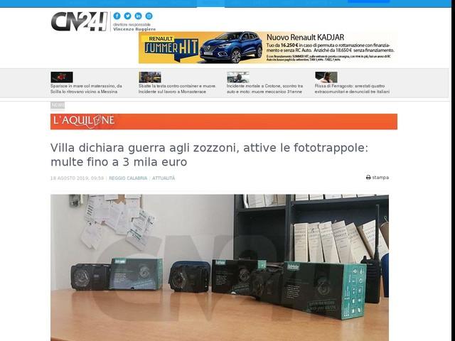 Villa dichiara guerra agli zozzoni, attive le fototrappole: multe fino a 3 mila euro