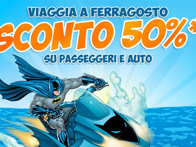 Tirrenia: Traghetti scontati del 50% a Ferragosto!