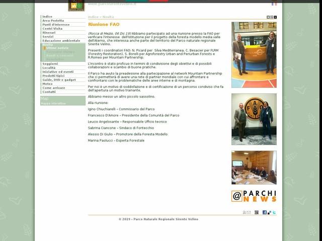 PR Sirente Velino - Riunione FAO