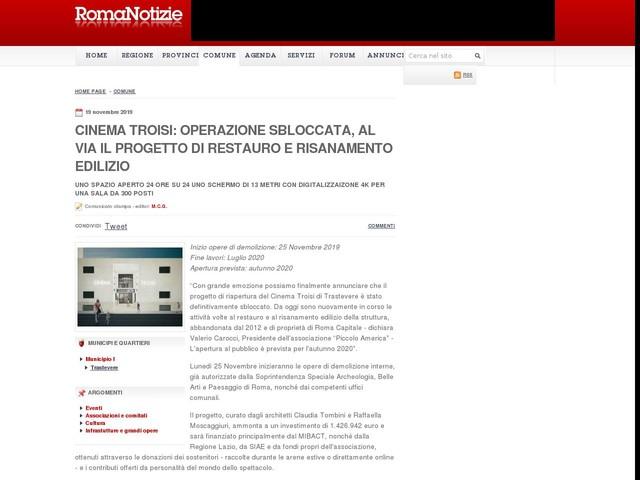 CINEMA TROISI: OPERAZIONE SBLOCCATA, al via il progetto di restauro e risanamento edilizio