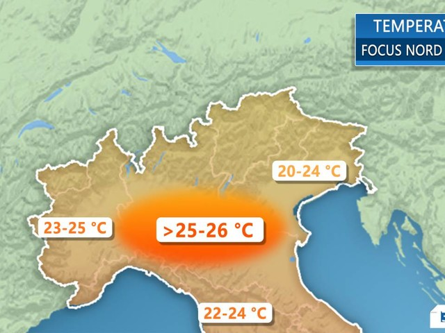 Meteo Italia. Temperature, apice del 'caldo' entro lunedì. Fino a 25°C