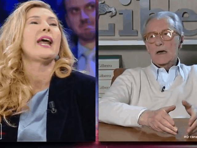 Vittorio Feltri insulta la Biancofiore a Non è l'Arena: ecco cosa è successo (VIDEO)