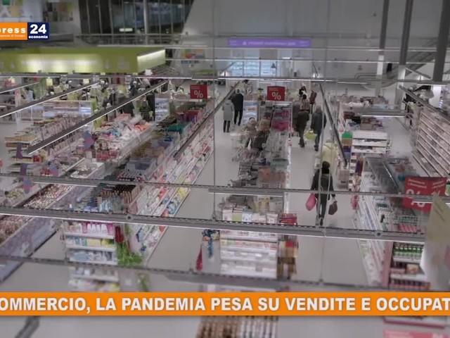 Commercio, la pandemia pesa su vendite e occupati