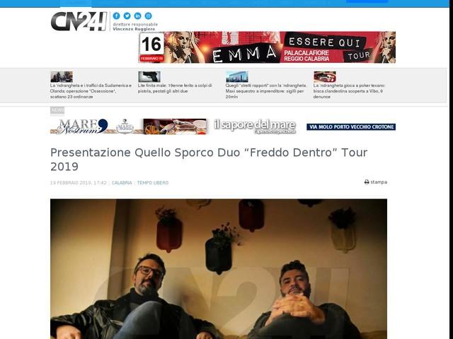"""Presentazione Quello Sporco Duo """"Freddo Dentro"""" Tour 2019"""