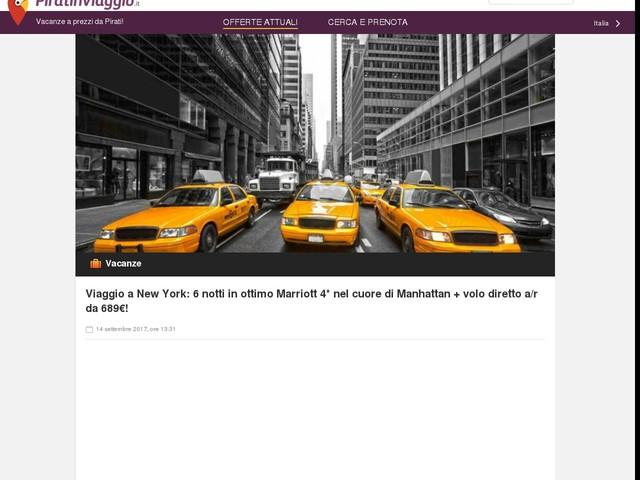 Viaggio a New York: 6 notti in ottimo Marriott 4* nel cuore di Manhattan + volo diretto a/r da 689€!