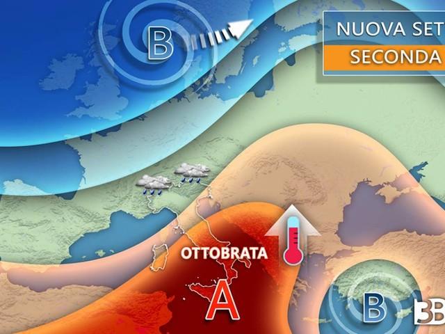 Meteo, PROSSIMA SETTIMANA ancora piogge al Nord, OTTOBRATA al Centro-Sud