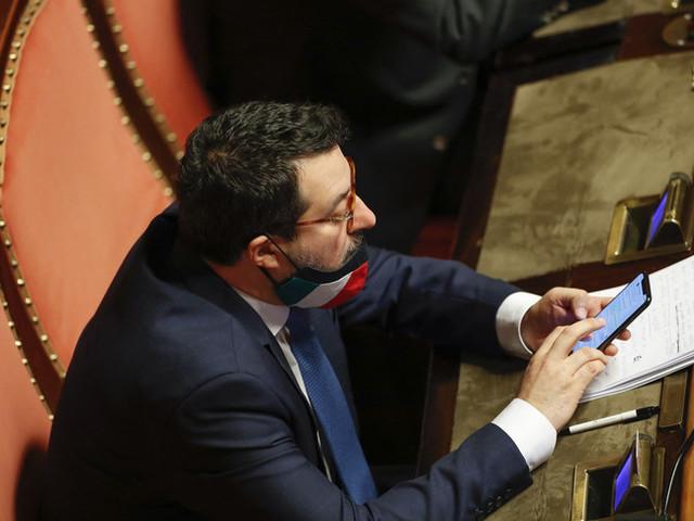 """Salvini si è detto """"stupito negativamente"""" dalle parole di Draghi"""