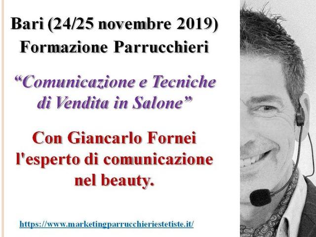 Formazione Parrucchieri Bari: 2 giorni in aula con Giancarlo Fornei!