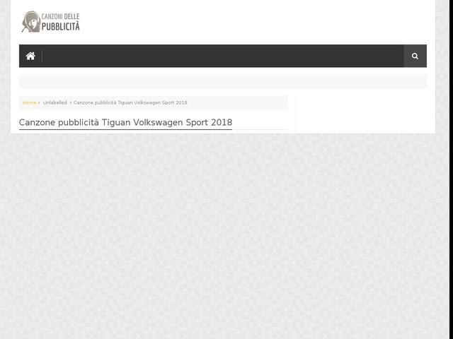 Canzone pubblicità Tiguan Volkswagen Sport 2018
