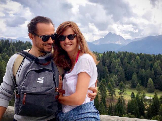 Stefano Accorsi e Bianca Vitali, genitori ad alta quota