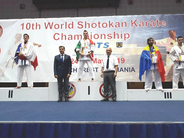 Devid Lena oro WKF a Bucarest, kata da applausi per lui