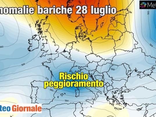 Meteo Weekend, stop CANICOLA, refrigerio con forti TEMPORALI