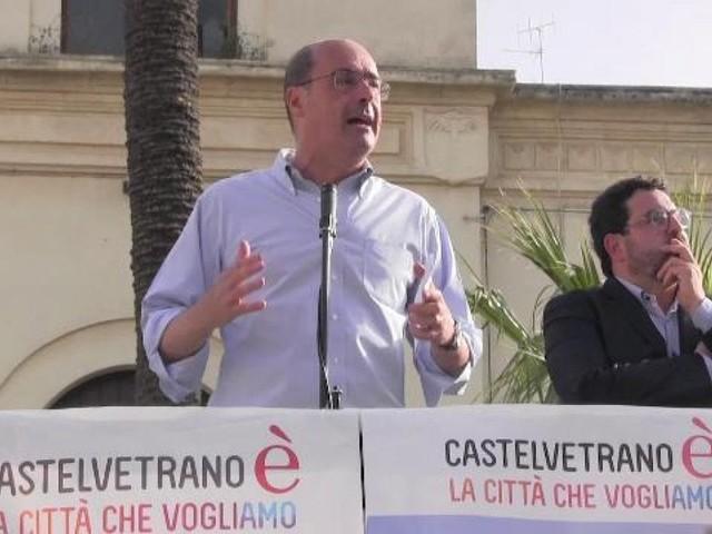 """Zingaretti a Castelvetrano: """"Altri parlano, io qui al fianco delle persone perbene"""""""