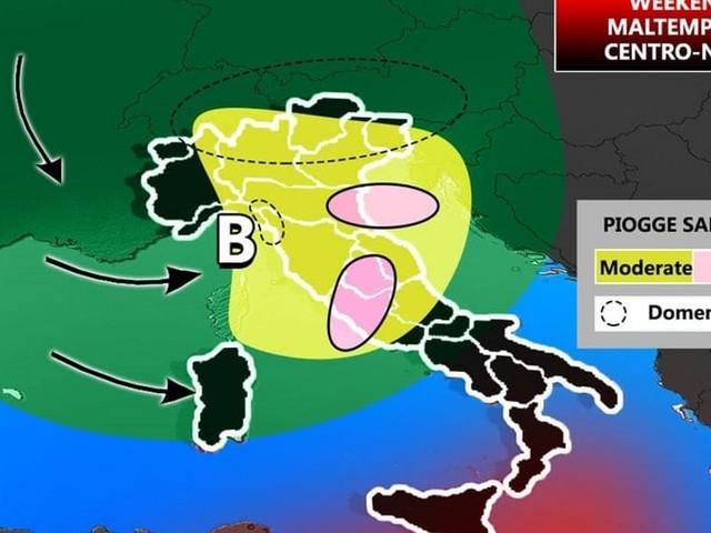 Meteo, Italia spaccata in due nel weekend: sole al Sud e maltempo al Nord