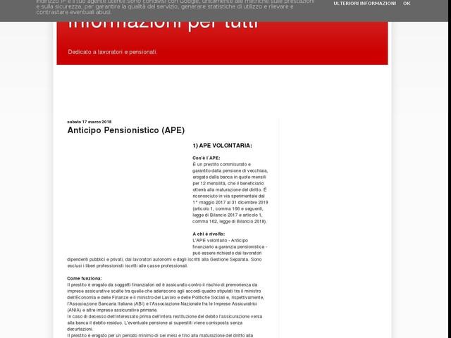 Anticipo Pensionistico (APE)
