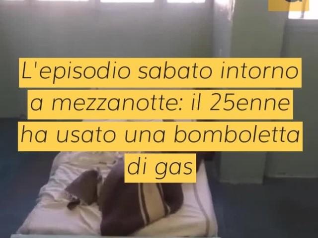 Detenuto straniero tenta il suicidio in cella dandosi fuoco