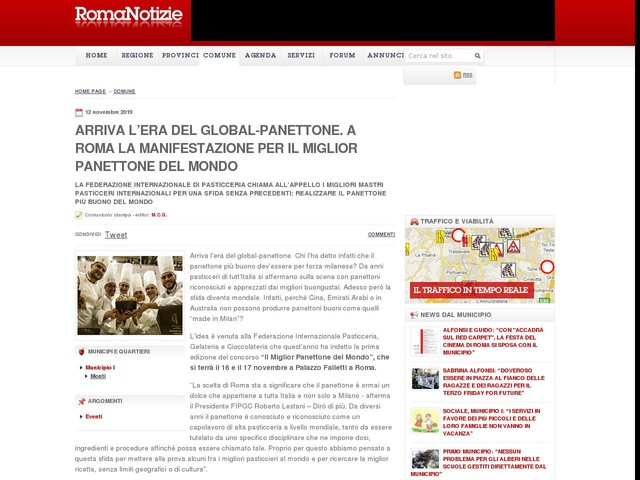 ARRIVA L'ERA DEL GLOBAL-PANETTONE. A ROMA LA MANIFESTAZIONE PER IL MIGLIOR PANETTONE DEL MONDO