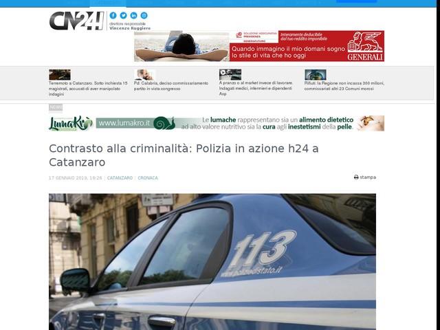 Contrasto alla criminalità: Polizia in azione h24 a Catanzaro