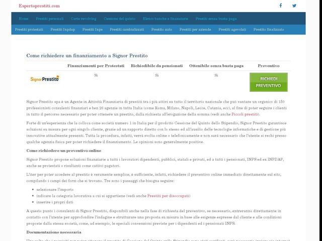Signor Prestito – Preventivo online immediato - Finanza - Anygator.com