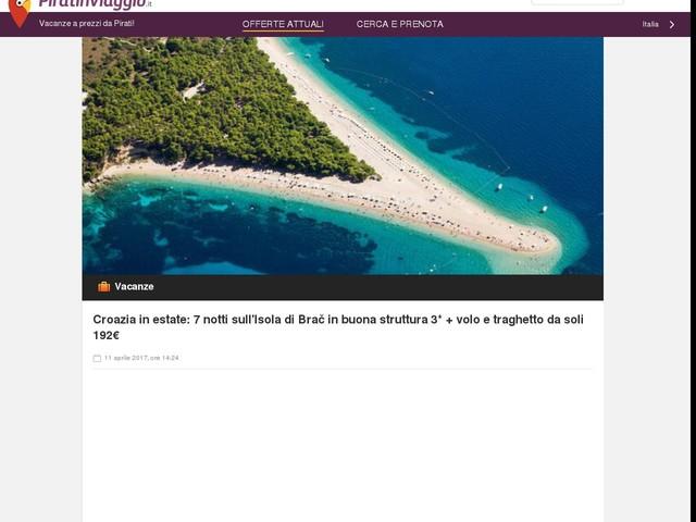 Croazia in estate: 7 notti sull'Isola di Brač in buona struttura 3* + volo e traghetto da soli 192€