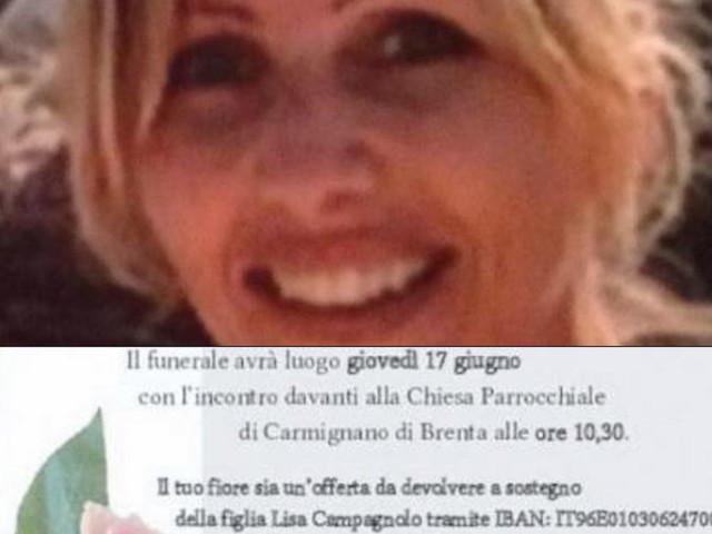 Padova, 47enne muore di tumore: sull'epigrafe lascial'Iban per far studiare la figlia