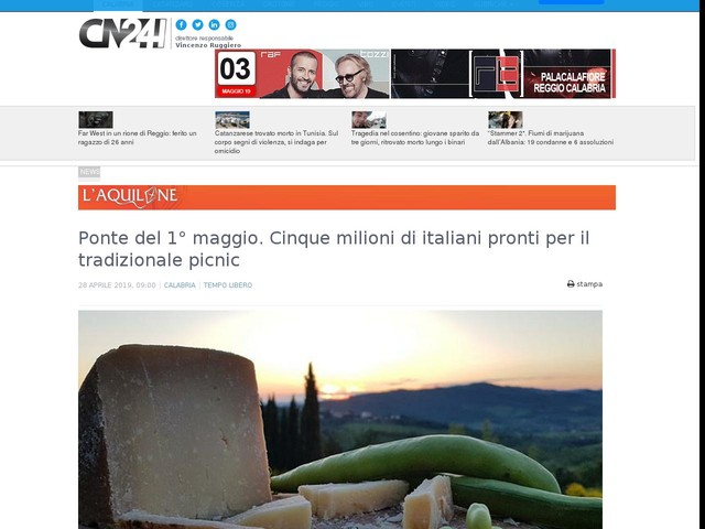 Ponte del 1° maggio. Cinque milioni di italiani pronti per il tradizionale picnic