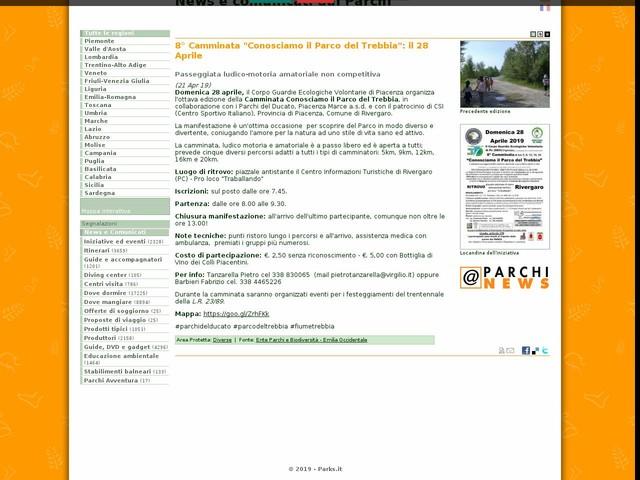 """Ente Parchi e Biodiversità - Emilia Occidentale - 8° Camminata """"Conosciamo il Parco del Trebbia"""": il 28 Aprile"""