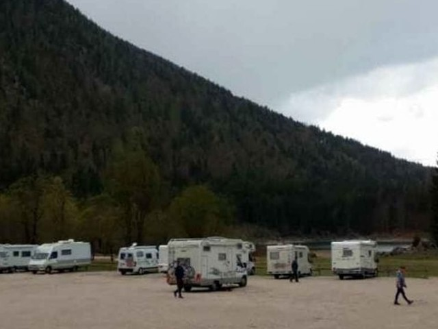 Un punto sosta camper in città durante la kermesse Friuli Doc
