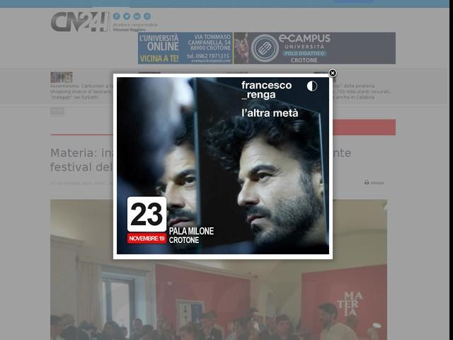 Materia: inaugurata la IV edizione del più importante festival del design del Sud Italia