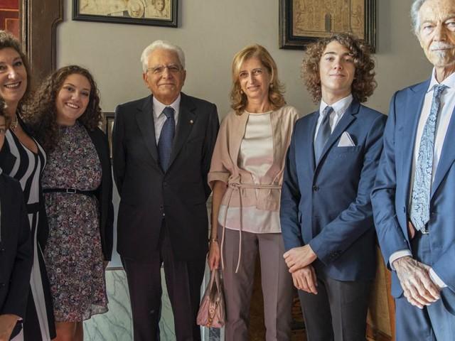 Recanati, visita del Presidente Mattarella a casa Leopardi: incontro con i discendenti del poeta (FOTO)