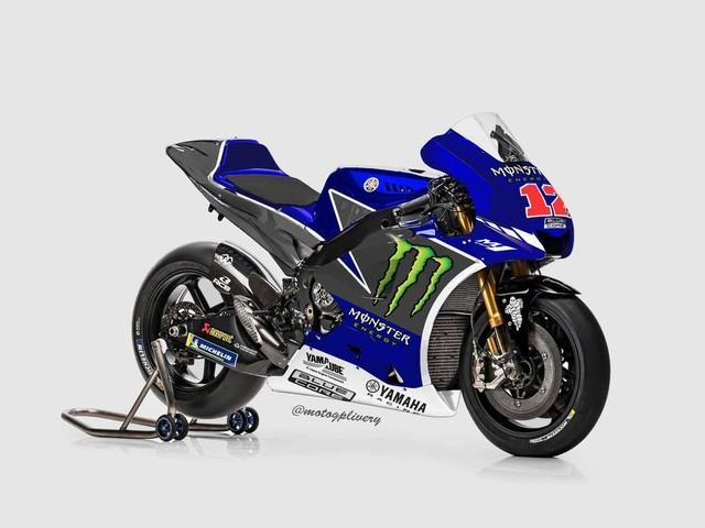 MotoGP, la nuova Yamaha di Rossi e Vinales sui social