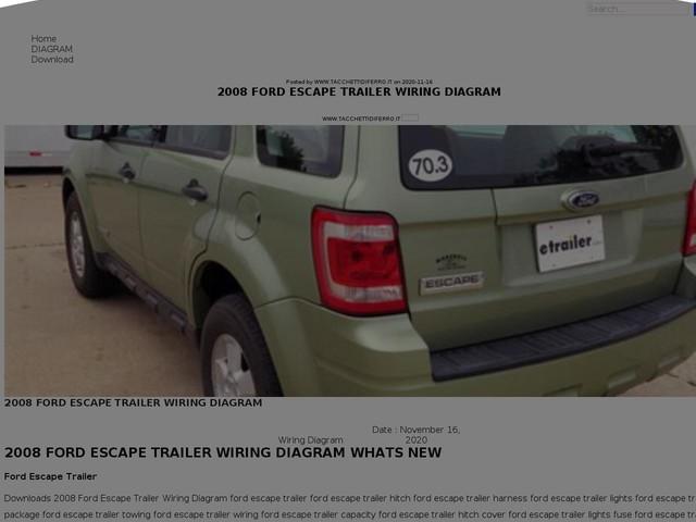 Ford Escape Trailer Wiring Diagram