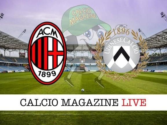 Milan – Udinese: cronaca diretta live, risultato in tempo reale