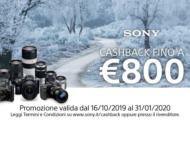 Interessati a una fotocamera Sony? Approfittate della promozione cashback per farvi rimborsare fino a 800€