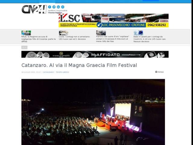 Catanzaro. Al via il Magna Graecia Film Festival