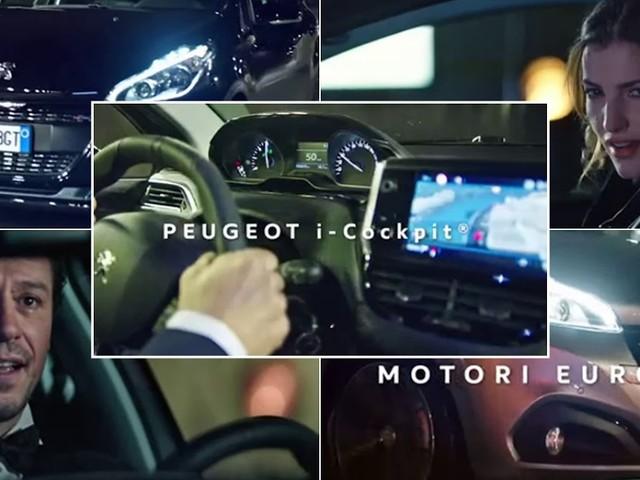 Spot Peugeot 208 con la modella Debora Franchi e l'attore Stefano Accorsi