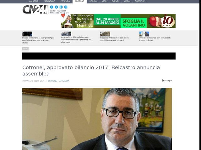 Cotronei, approvato bilancio 2017: Belcastro annuncia assemblea
