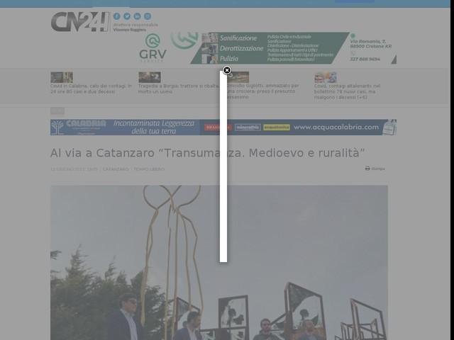 """Al via a Catanzaro """"Transumanza. Medioevo e ruralità"""""""