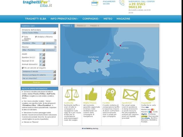 Traghetti Elba: prenotazione online biglietti - Traghetti-Elbareservation