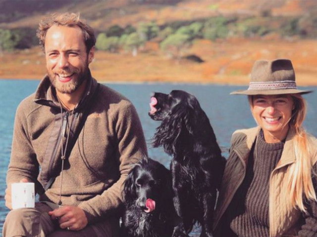 James Middleton e Alizee Thevenet: «La nostra prima foto di famiglia»