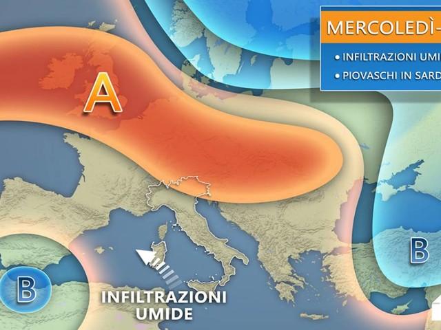 METEO ITALIA -- torna l'ALTA PRESSIONE in settimana, nuovo STOP all'INVERNO. Tutti i dettagli