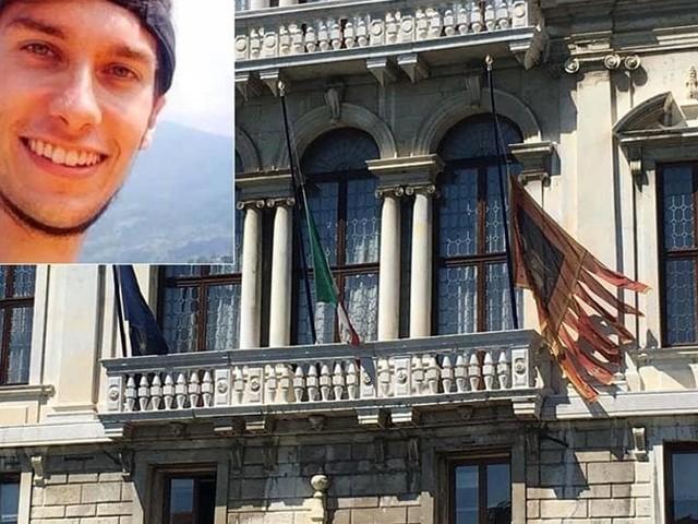 Strage di Barcellona: bandiere a mezz'asta per Luca Russo a Bassano e in Regione