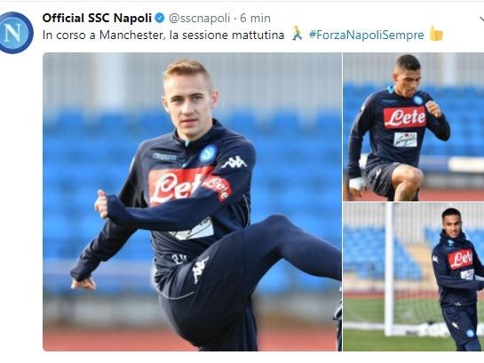 FOTO – Gli azzurri si allenano a Manchester: nel pomeriggio rientro a Napoli